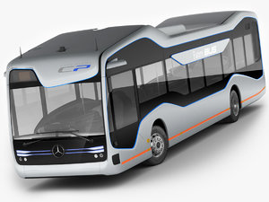 mercedes future bus 3d model
