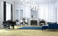 3d model paris chic apartment