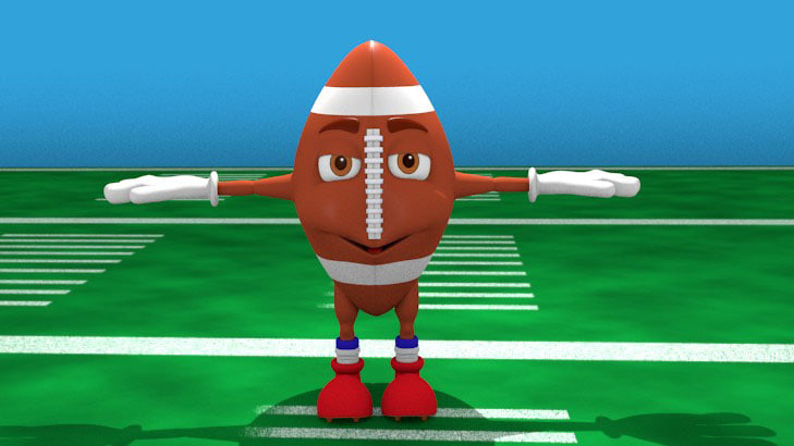 3ds cartoon american football