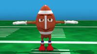 Cartoon American Football