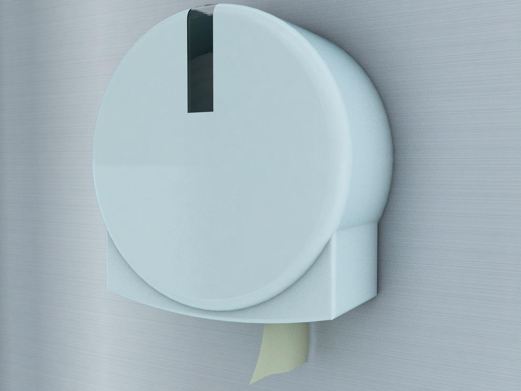 3d public toilet paper dispenser model