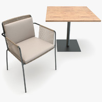 Kettal Net Dining Armchair and Table