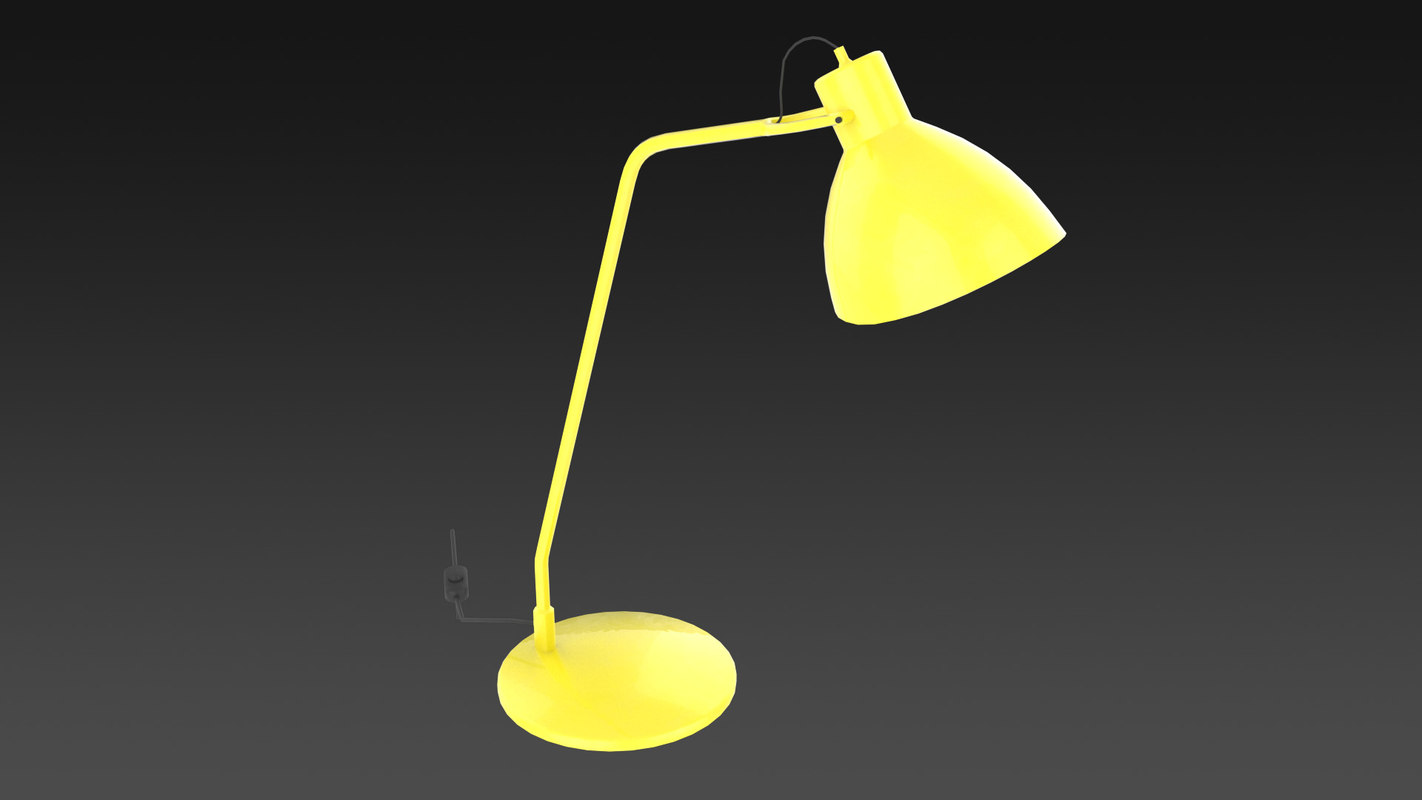 desk lamp 3d obj