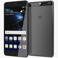 realistic huawei p10 graphite 3d 3ds