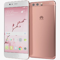 3d model realistic huawei p10 rose