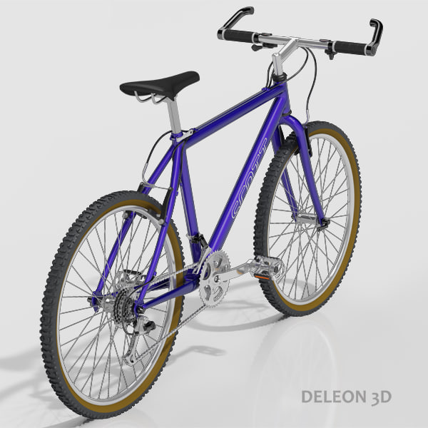 mountain bike scott 3d max