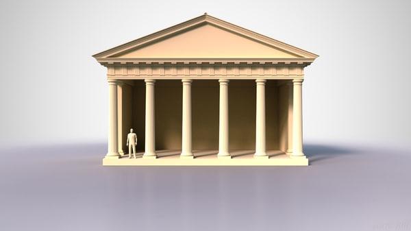 doric temple 3d model