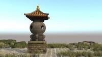 japanese ancient architecture senior 3d max