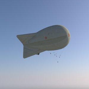 military balloon 3d max