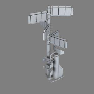 antenna 3d fbx