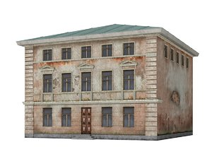 3d model old building