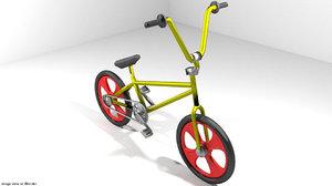 3d bicycle bmx cycle