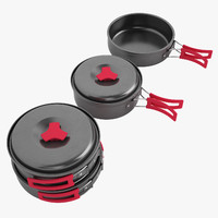 3d camping cookware cook