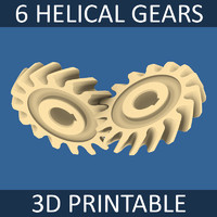 3d 3ds helical gear