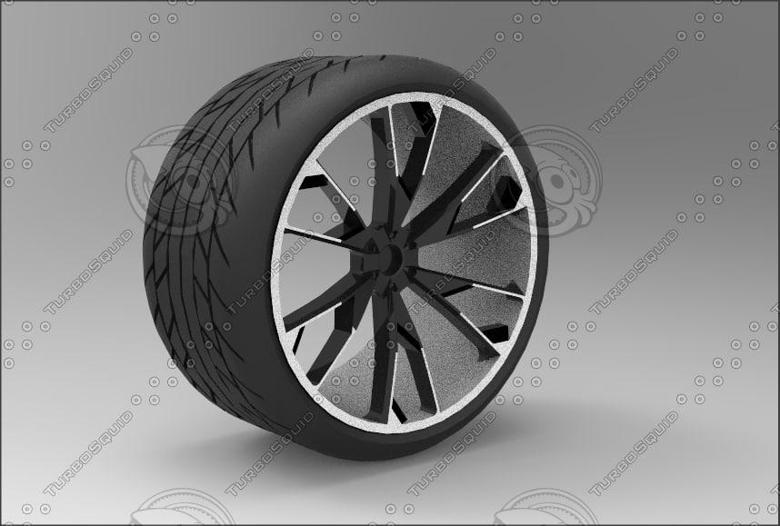 3d model of wheels