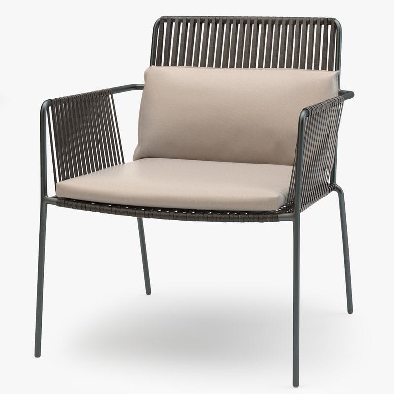kettal net club armchair 3d max
