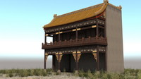 japanese ancient architecture altar 3d model