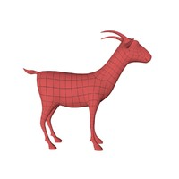 base mesh cartoon goat 3d model