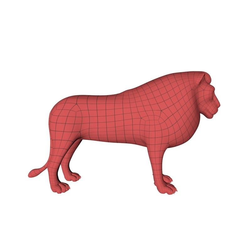 obj base mesh lion