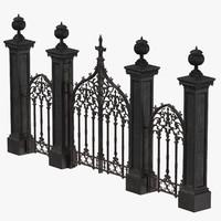 cemetery gates 02 c4d