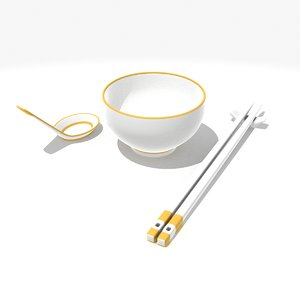 3d model chinese dining set