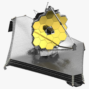 james webb space telescope 3d max