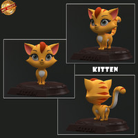 3d kitten cartoon