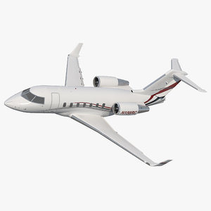 bombardier challenger 604 business jet 3d model