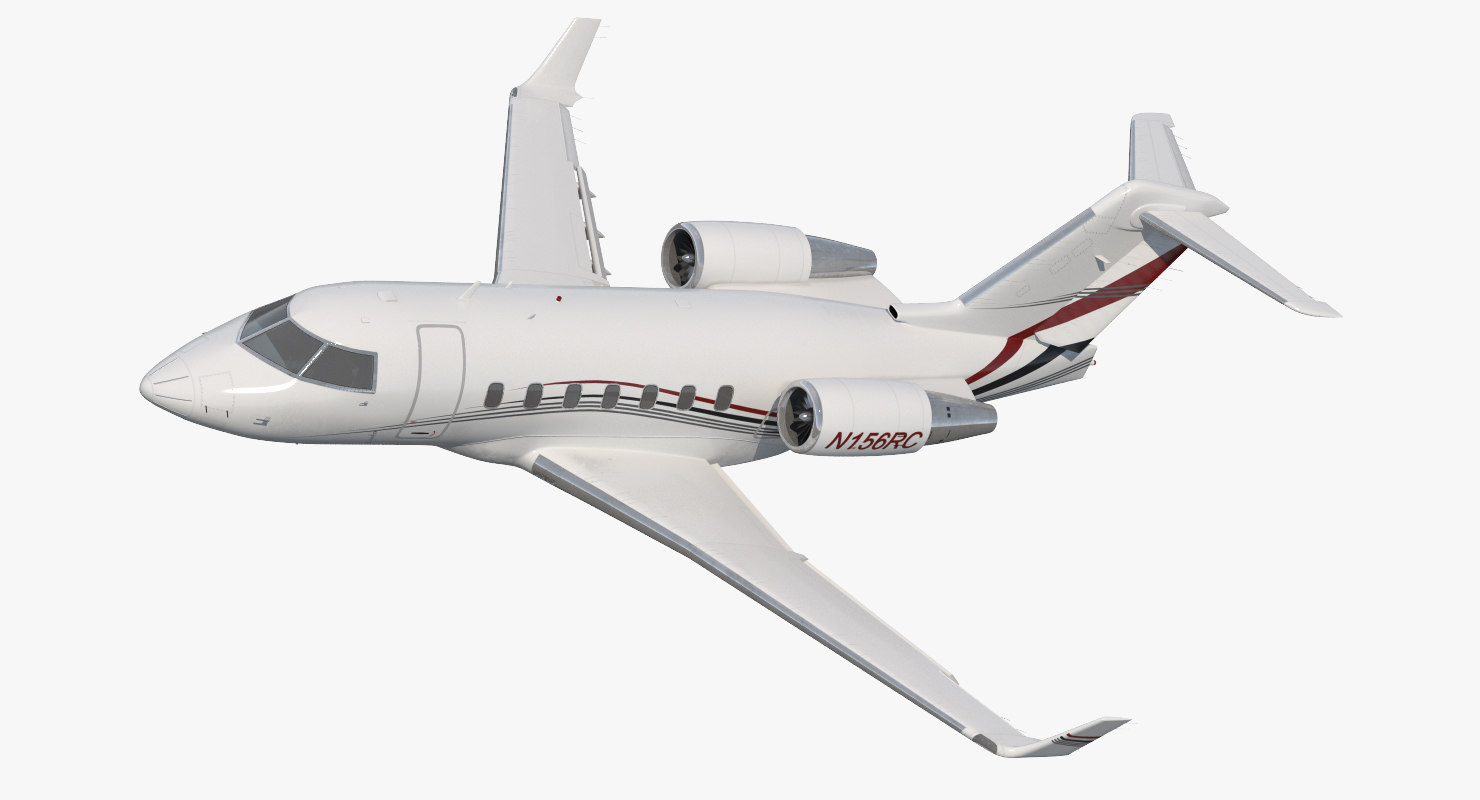 bombardier challenger 604 business jet 3d model