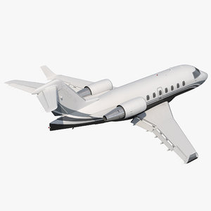 business jet bombardier challenger 3d max