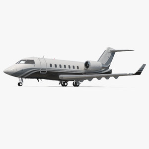 business jet bombardier challenger 3d model