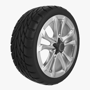 car tire rim details 3d model