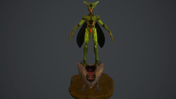 cell dragon ball 3d obj
