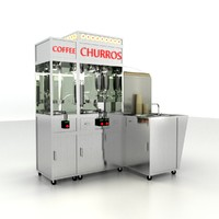 churro machine coffee 3d max