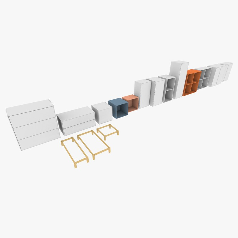 ikea eket sets 3d model