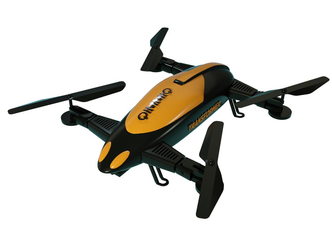 qimmiq transformer drone hybrid c4d free