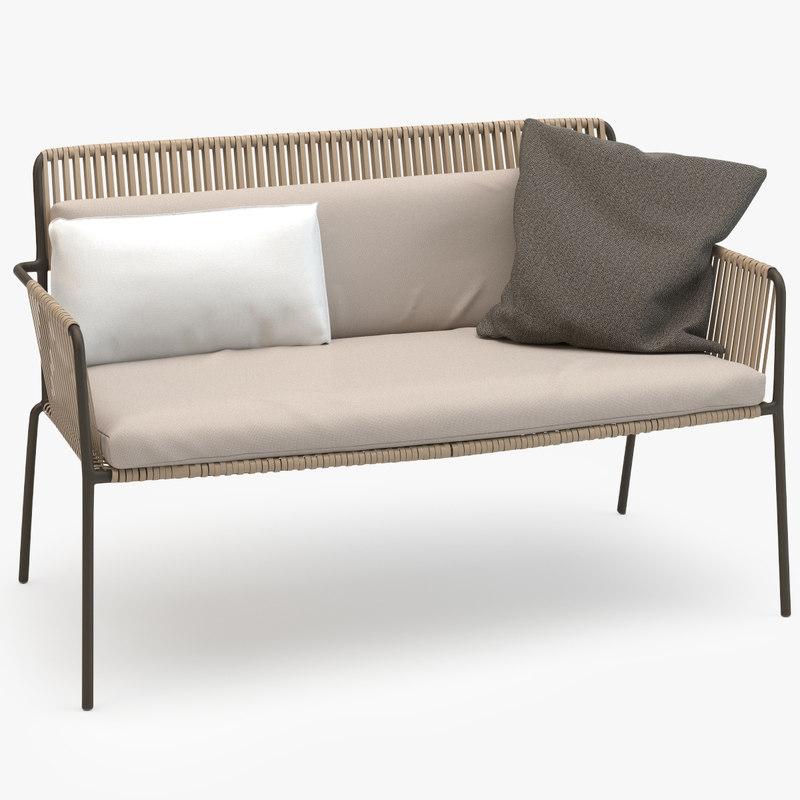 kettal net sofa 3d model