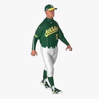 baseball player rigged athletics 3d model