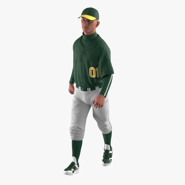 baseball player rigged generic 3d max