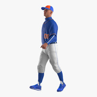 Baseball Player Rigged Generic 3 3D Model
