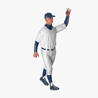 Baseball Player Rigged Generic 5 3D Model