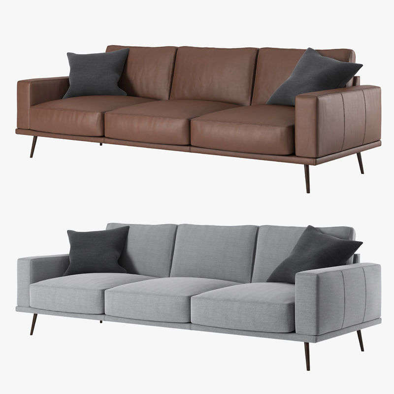 boconcept carlton sofa 3d model. Black Bedroom Furniture Sets. Home Design Ideas