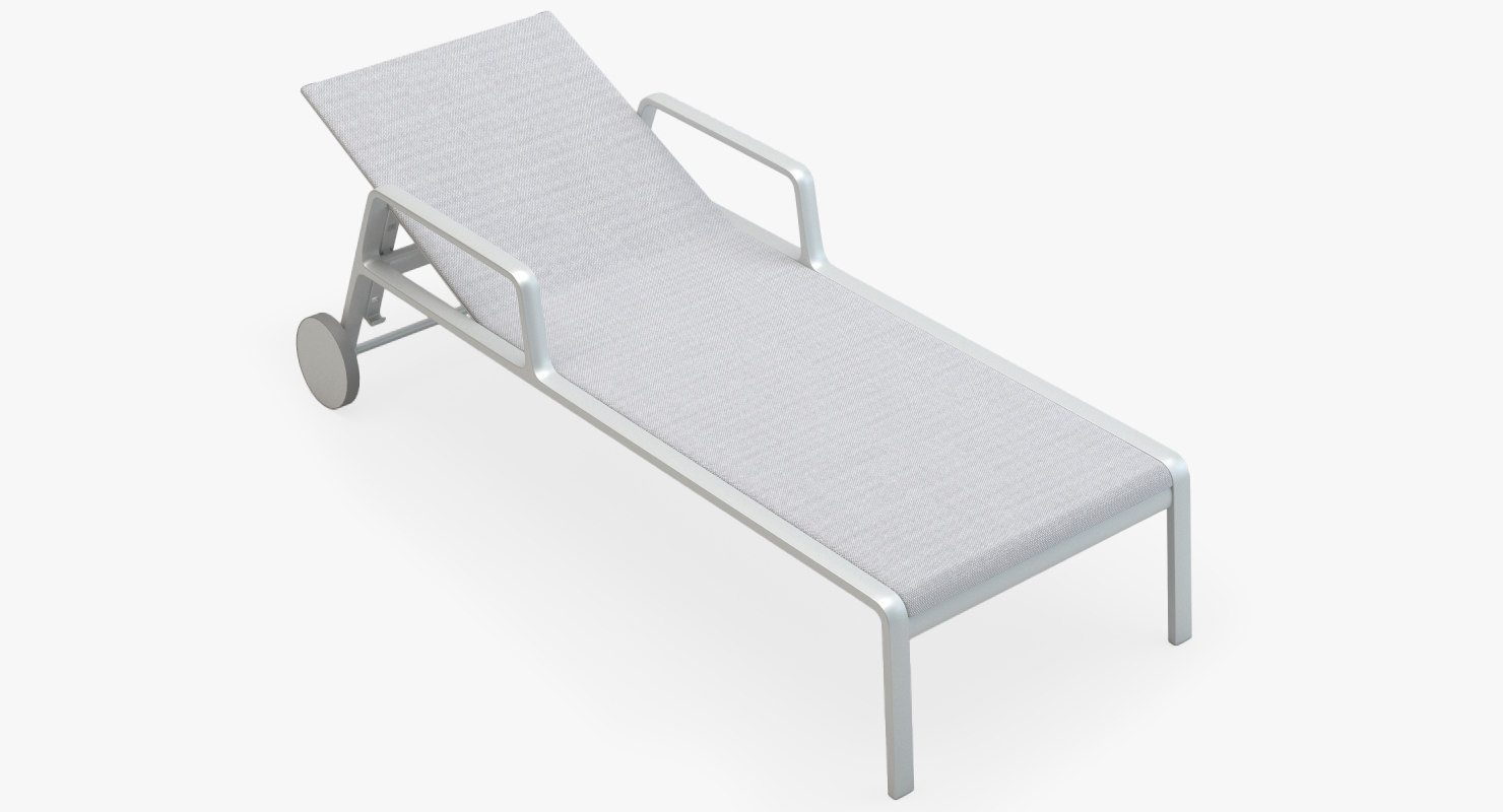 3d kettal park life deckchair model