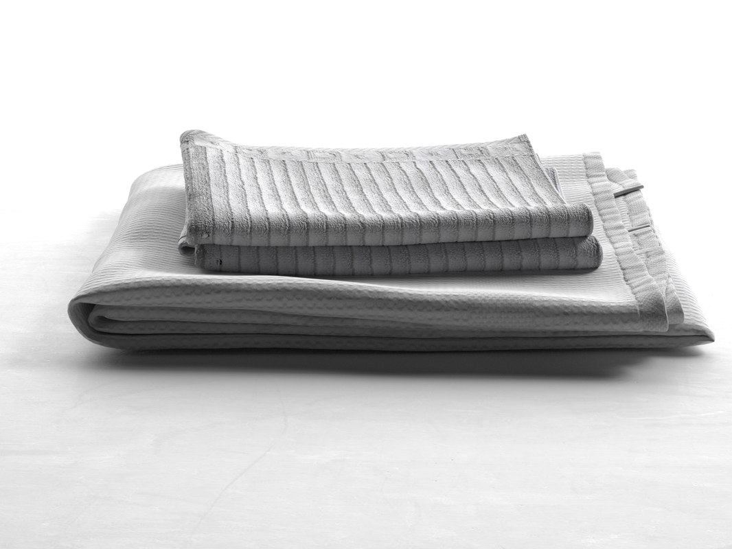 bath towel set 02 3d max