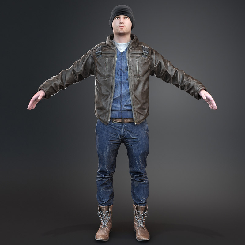 3d model realistic pbr clothing