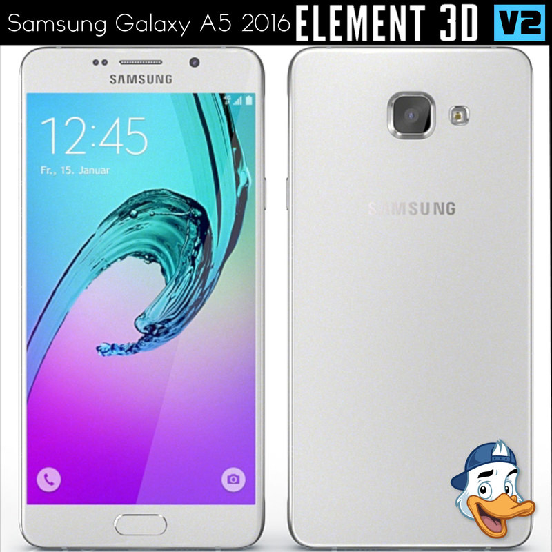 3d model samsung galaxy a5 2016