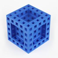 cube holes print 3d model