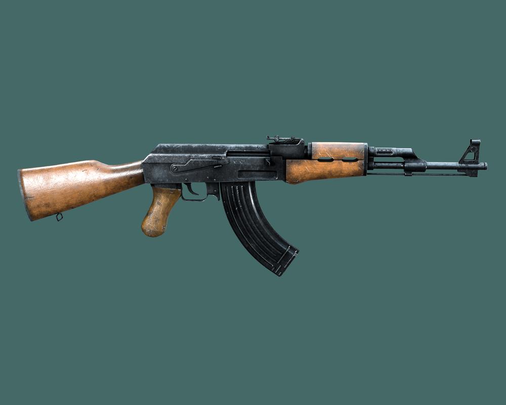 assault rifle 47 3d x