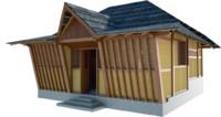 3d vernacular house sasak