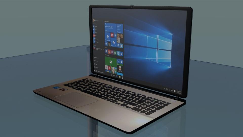 3d toshiba laptop